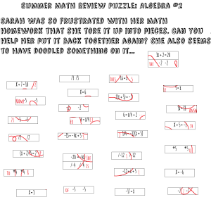 SummerMathPuzzles Algebra No2 final